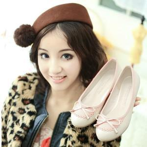 Cute bow simple shoes