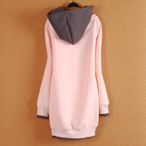 Lovely letter fleece jacket