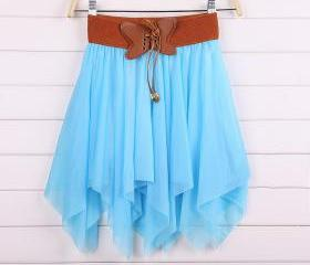 mini skirt,Bow irregular skirts bowknot dress