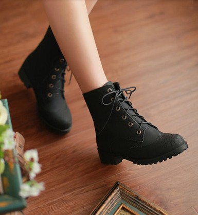 Women Black Boots,New Fall Winter 2013/14 Oxford Black Matte Boots ...