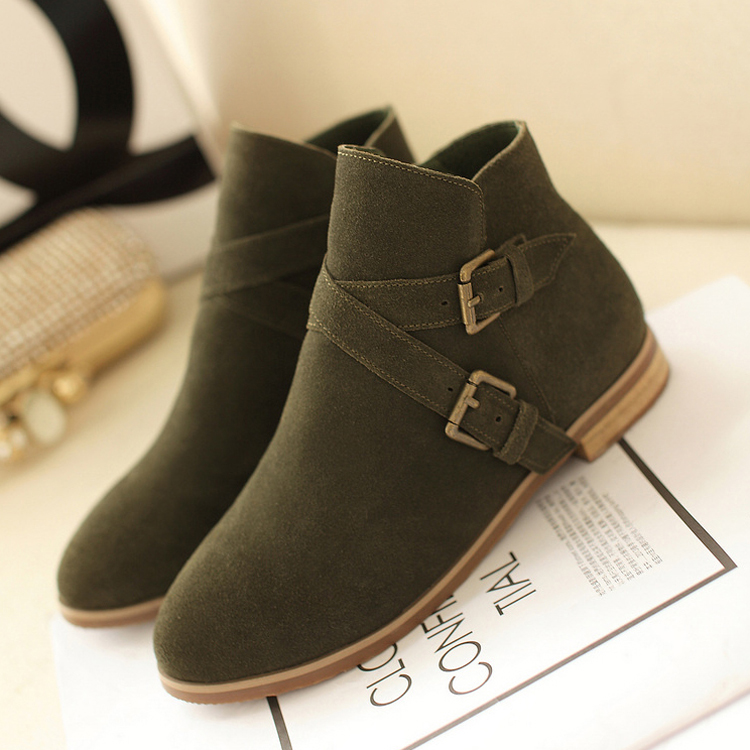 Green Boots,biker Boots,fashion Winter Boots For Women,Buckle ...