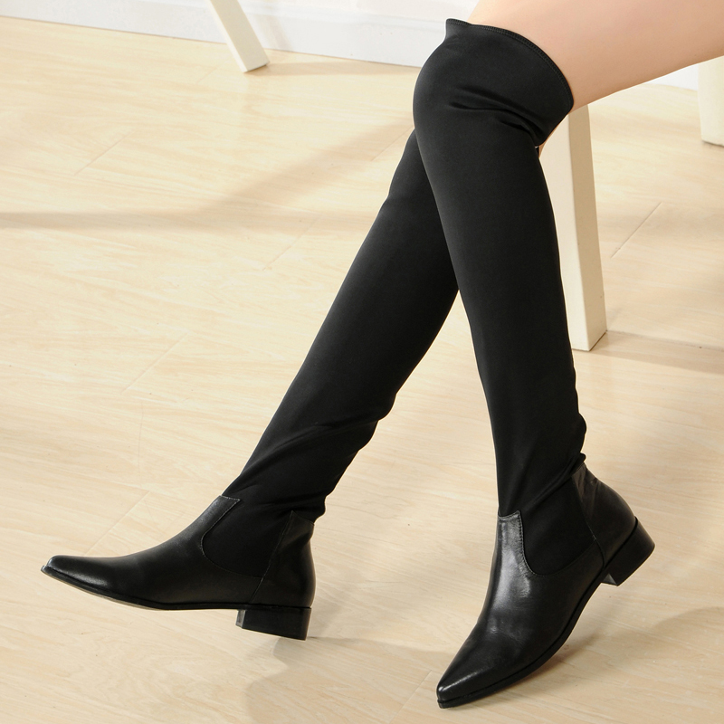 Thigh High Boots,leather Women Knee High Boots,black Boots on Luulla