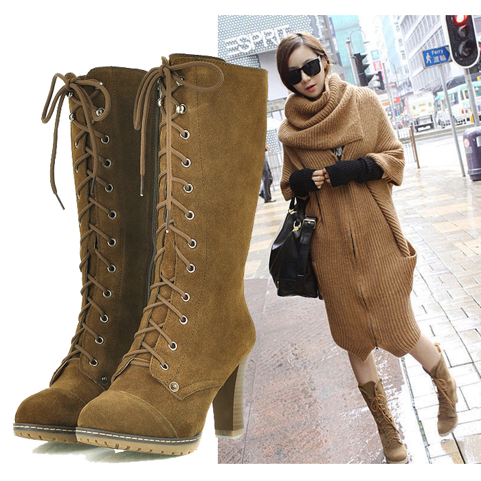 Wide Calf Boots,Retro Fashion Thigh High Boots,high Heels,black ...