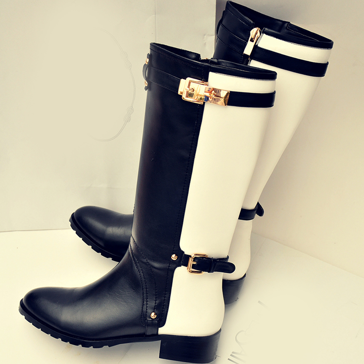 Riding Boots,fashion Leather Knight Boots,combat Boots Women on Luulla