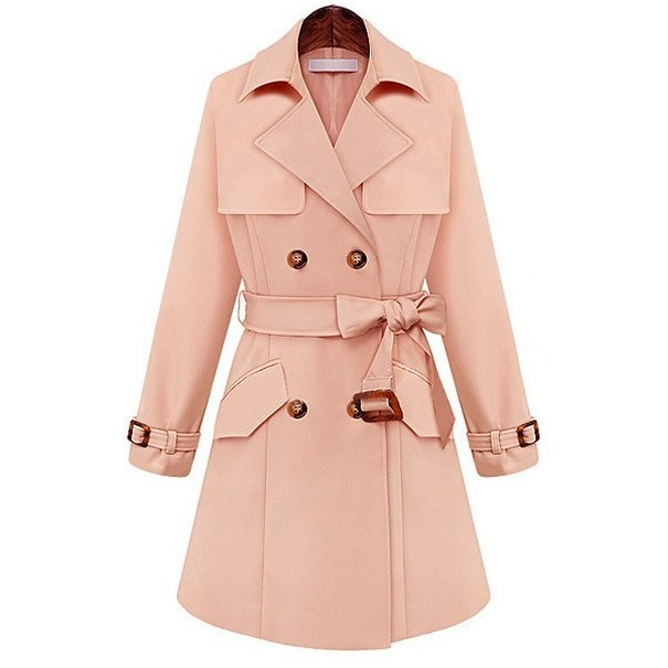 Long Plus Coats Pink Jacket Women Casual Warm Coat Lapel on Luulla