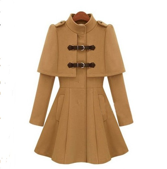 Brand Top Coats Christmas Gift Slim Warm Coat Dress For Women Lady ...