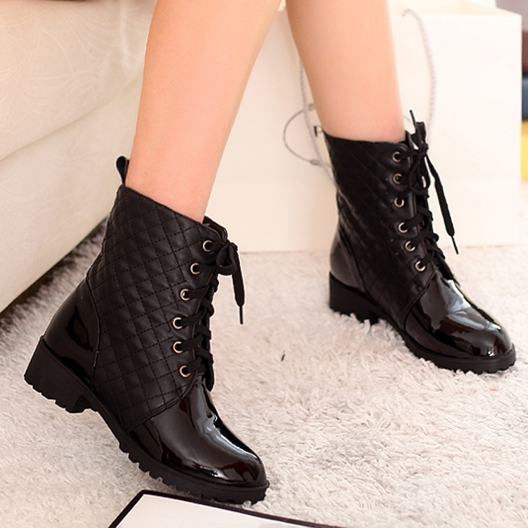 Original  Womens GreyBlack High Leg Biker Motorcycle Riding Boots  EBay